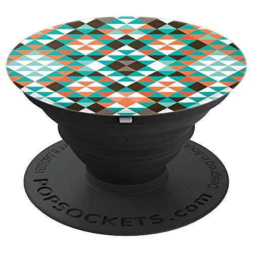 (Aztec Tribal Southwestern Triangle Pattern - PopSockets Grip and Stand for Phones and)
