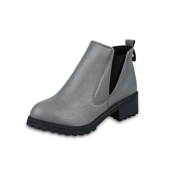 Calzado Botas de Invierno para Mujer Botines de tacón bajo Botas de Moda Botas de Invierno otoño Zapatos Zapatos Invierno Calientes QINGXIA_ZI: Amazon.es: ...