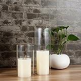 SG Clear Candle Holder Glass Cylinder Vase Glass