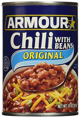 Armour Chili, With Beans, 14 Ounce (Pack of 12)