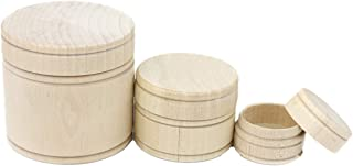 product image for Camden Rose Wood Dry Goods Containers, Set of 3