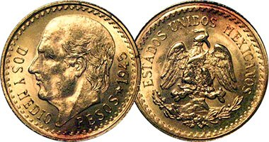 Mexican 2 5 Gold Peso at Amazon's Collectible Coins Store