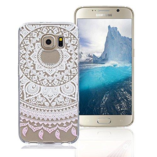 Funda Samsung Galaxy S6, AllDo Funda TPU Silicona para Samsung Galaxy S6 Funda Transparente Claro Carcasa Flexible Suave TPU Silicone Case Soft Cover Carcasa Protectora Funda Ultra Delgado Caja Ligero Girasol