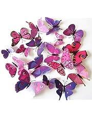 12pcs Butterfly Plane Wall Sticker Home Decoration Model Om986