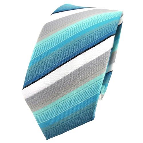 necktie black Tie striped tie mint white turquoise TigerTie necktie narrow gray vRpqFF