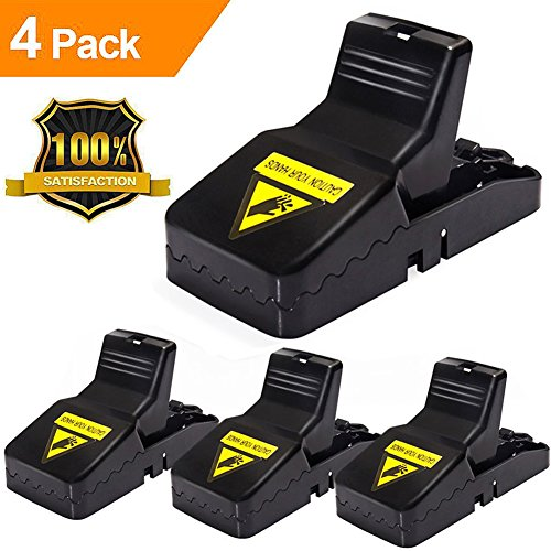LENKA Mouse Traps That Work, Mice Traps Snap [100% Professional Mouse Catcher] - Quick Kill & Reusable & Durable - 4 Packs