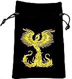 Phoenix Rising Luxury Velvet Drawstring Tarot or Oracle Card Bag