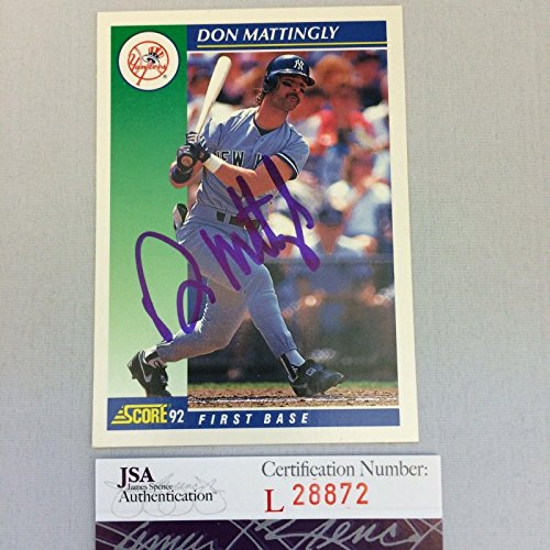 Certified Donjsa Certified Don Mattingly Signed Autograph...