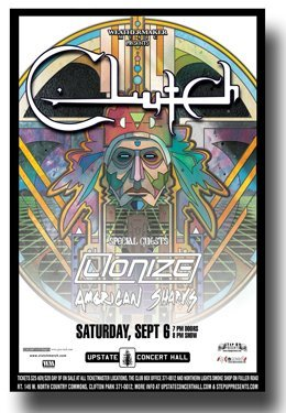 Clutch Poster - Upstate Band - Earth Rocker Tour