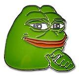 SMUG Pepe Frog Pin by MemeWerks - 100% SMUG - Internet Meme Lapel Pin