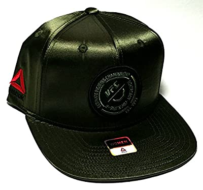 UFC Reebok RBK MMA Women Satin Ladies Sateen Patch Olive Green Snapback Hat Cap from Reebok
