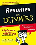 img - for Resumes For Dummies by Joyce Lain Kennedy (2002-11-01) book / textbook / text book
