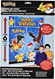 Amscan Pikachu and Friends Pokemon Birthday Banner Wall Decoration Kit Party Supplies (60 Piece), Multicolor, 9 Inch