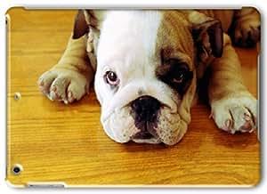 Apple iPad Air Case, Apple iPad Air 3D Cases Hard Shell White Cover Skin Cases Bulldog Puppy