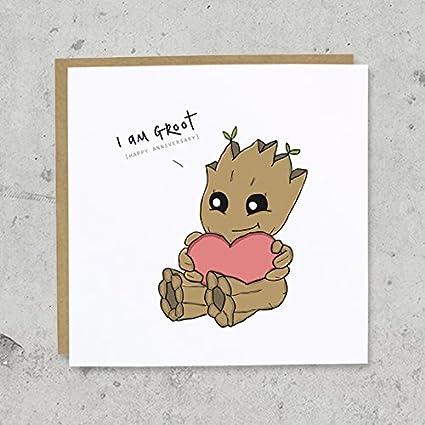 I Am Groot aniversario tarjeta de felicitación | Guardianes ...