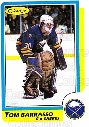 (CI) Tom Barrasso Hockey Card 1986-87 O-Pee-Chee (base) 91 Tom Barrasso (1986 87 O Pee Chee Hockey Cards)