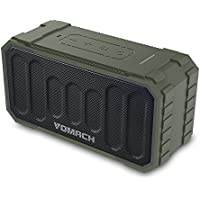 Vomach Outdoor Speaker IPX6 Waterproof Stereo Sound Bluetooth Speakers Wireless Portable Speakers Army Green