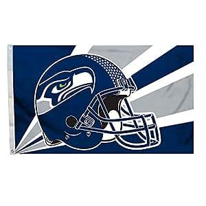 Nueva bandera de Seattle Seahawks, NFL mercancía exclusivo para interior/exterior Uso, 100% poliéster, 3x 5m