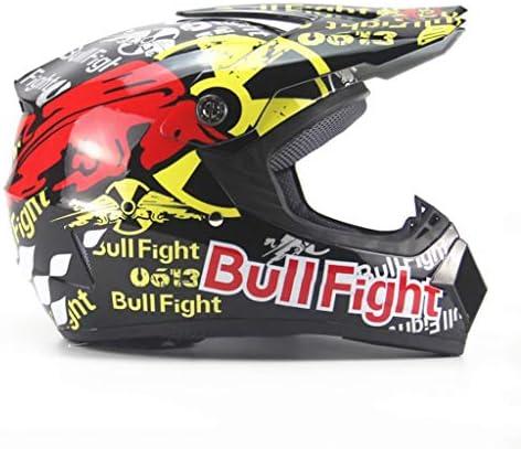 DGF オートバイフルヘルメット小型ライトオフロードヘルメット機関車マウンテンバイク下り坂四季男性と女性大人 (Size : XL)