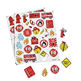300 Firefighter Fireman Fire Safety Self-Adhesive Foam Shapes