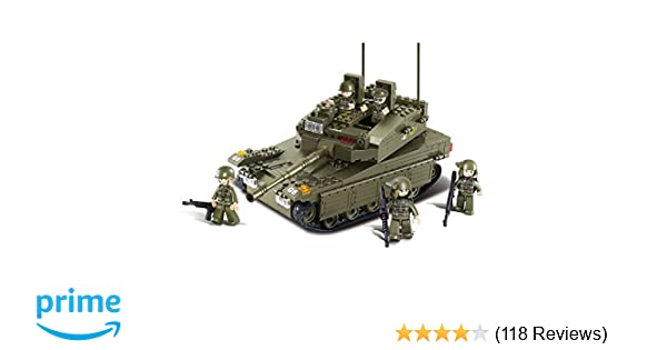 Amazoncom Sluban Merkava Tank 344 Pieces Building Blocks Set Toys