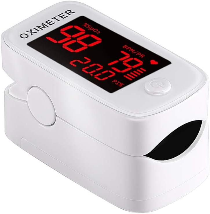 TOHHOT Médico portátil Oxímetro de Pulso LED Spo2 Oxígeno sanguíneo Monitor de Ritmo cardíaco Salud del hogar Pantalla LED de Fuente roja YM101