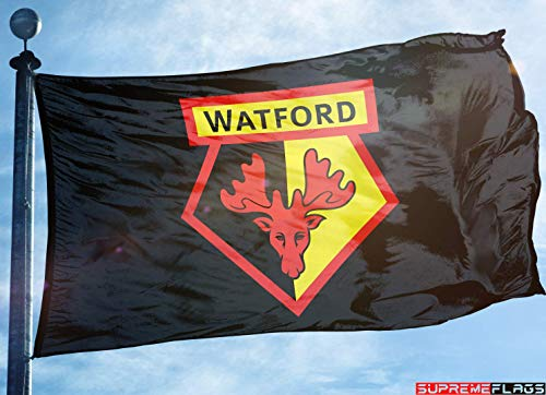 (Watford Flag Banner 3x5 England British UK Premier Football Soccer)