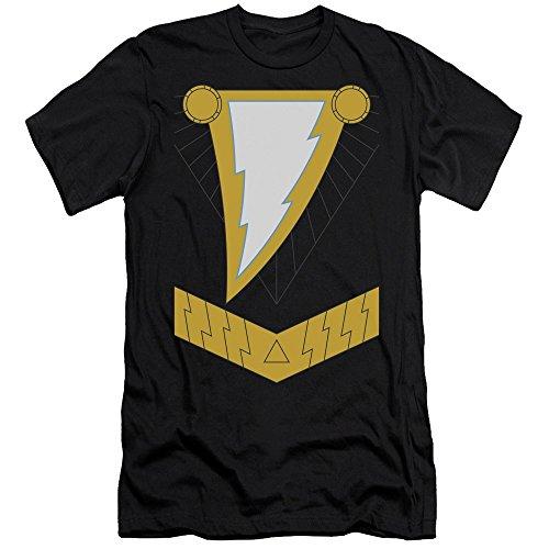 Justice League Of America DC Com Shazam Black Armor Costume Adult Slim T-Shirt (Martian Manhunter Costume)
