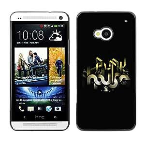 Caucho caso de Shell duro de la cubierta de accesorios de protección BY RAYDREAMMM - HTC One M7 - Abstract