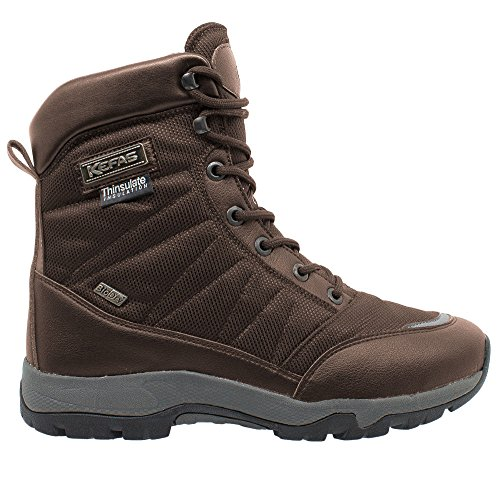 K Man outsole Winter thinsulate Brown Boot lock Snow lining KEFAS WARM 3220 Ice vxq41Bw1R