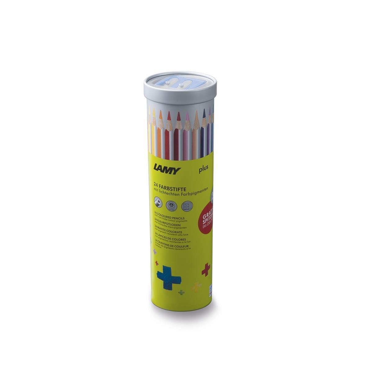 ラミー1231774色鉛筆、プラス瓶削り盤付きラウンドジャー B06XR2R4Q9