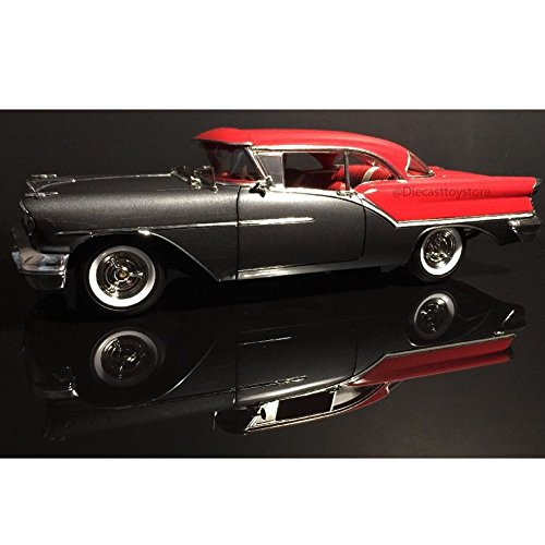 Oldsmobile 1957 Super 88 Charcoal Grey / Festival Red Limited Edition to 762pcs 1/18 by Acme - Oldsmobile 88 Super