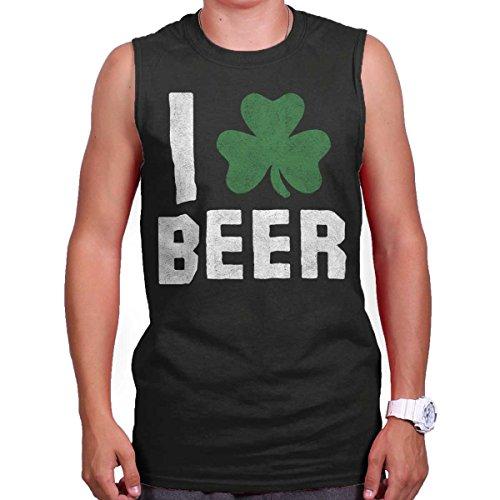 Love Beer Funny Shirt Cool St Patricks Day Gift Patty Irish Sleeveless Tee