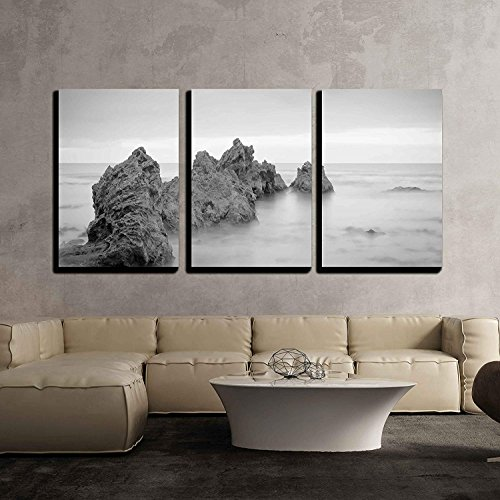 a Shot of Big Corona Beach Looking Out to The Pacific Ocean x3 Panels