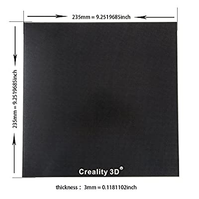 Creality Upgraded 3D Printer Platform Heated Bed Build Surface Glass Plate 235x235x3mm for Ender 3 Hot Bed