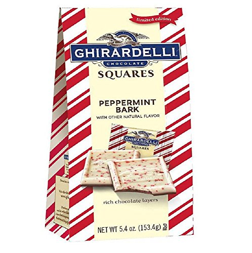 (Ghirardelli Chocolate Squares LIMITED EDITION Peppermint Bark 5.4 oz )