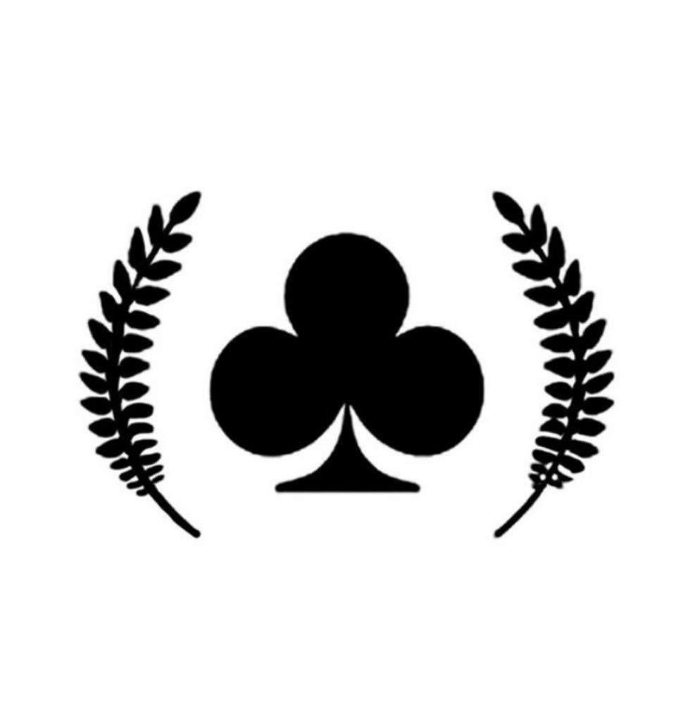 Adesivo per auto Autoadesivo di modellatura dellautomobile del vinile della decorazione del gioco del poker di 12.5 Articoli regalo e merchandising 8.1CM 2 pezzi