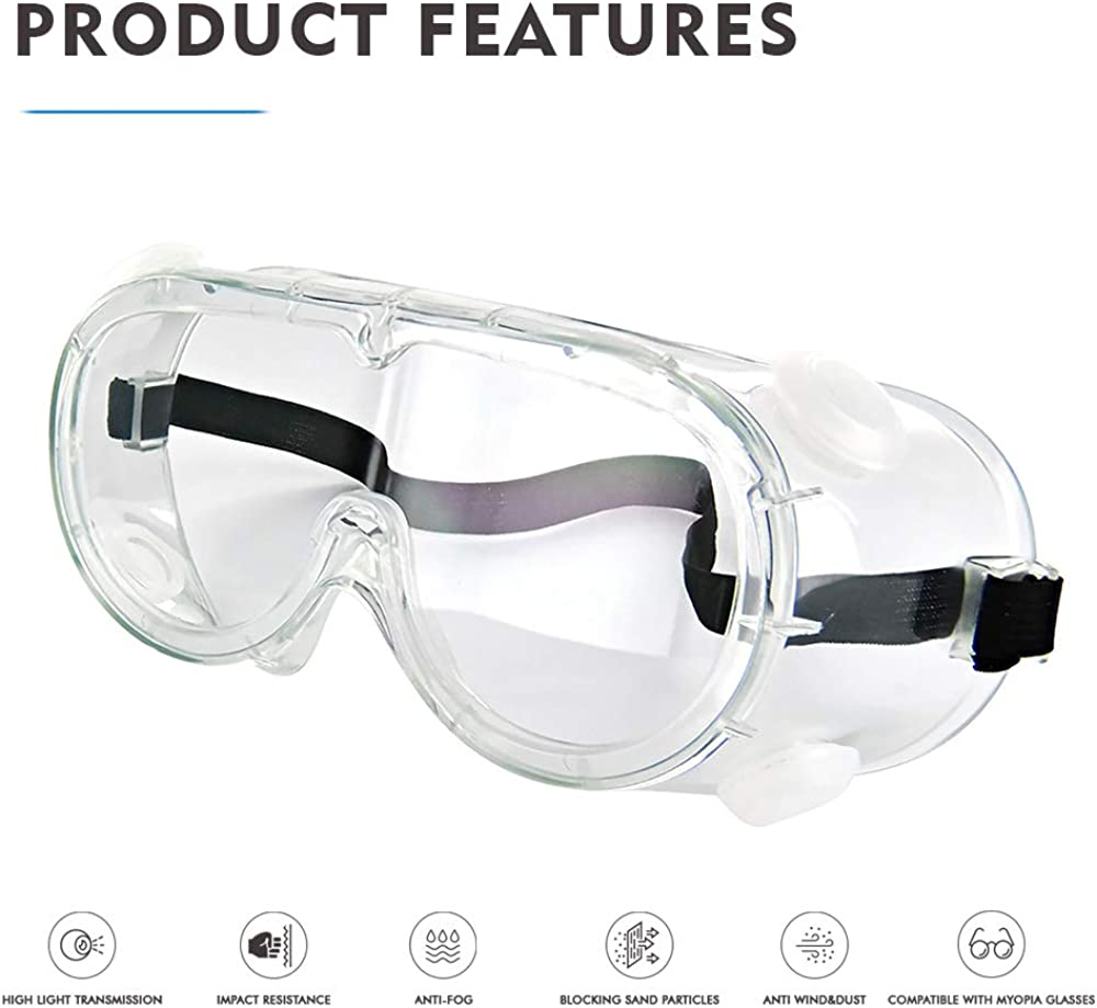 6.69x1.18x3.15, Transparent#C Traditional Technician Safety Goggle Adjustable Goggles Chemical Splash Impact Resistant Goggle Clear Anti-Fog Lens Eyewear for Eye Protection