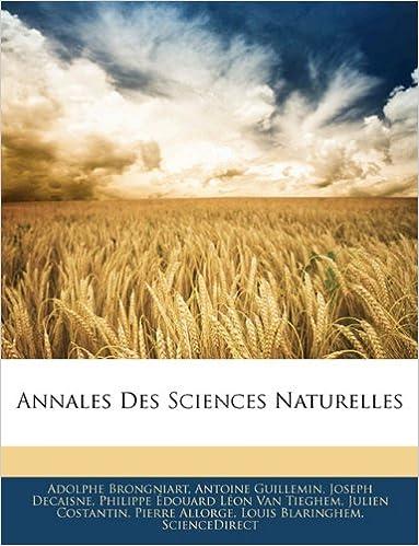 Book Annales Des Sciences Naturelles
