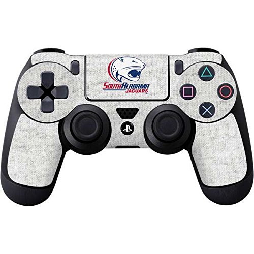 Skinit South Alabama Jaguars Heather Grey PS4 Controller Skin - Officially Licensed Learfield Collegiate Gaming Decal - Ultra Thin, Lightweight Vinyl Decal Protection