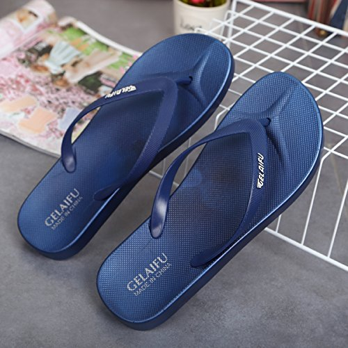 fankou Cool Slippers Summer Female Lovely Anti-Slip Soft, Breathable Beach Shoes Stylish and Simple Outdoor Wear Casual Word,43, Leaks into The Deep Blue