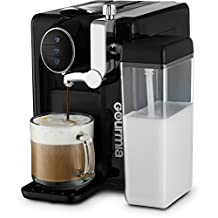 Gourmia GCM6500 - 1 Touch Automatic Espresso Cappuccino & Latte Maker - Italian Style Coffee Machine - Brew & Froth Milk In Cup with the Push of One Button - Programmable Taste - Nespresso Compatible