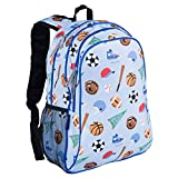 Wildkin 15 Inch Backpack, Extra Durable Backpack with Padded Straps and Interior Moisture-Resistant Lining, Perfect for School or Travel, Olive Kids Design – Game On