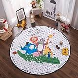 expresso rug - GreenSun(TM) Kids Play Rug Play Game Puzzle Mat Baby Sleep Nest Cotton Round Children Room Carpet Storage Toy Bag Cartoon Pattern