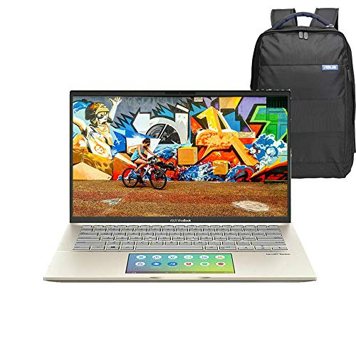 ASUS VivoBook 14 S432FL-EB151T 14″ Full HD Laptop (Moss Green) (Intel Core i7-10510U, 8GB RAM, 1TB SSD, NVIDIA GeForce MX250 2GB GDDR5 Graphics, Screen Pad, Backpack, Windows 10)