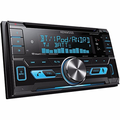 Kenwood DPX530BT Double-DIN In-Dash CD /MP3 /USB Bluetooth AM/FM Car Stereo Receiver with High Resolution Audio Compatibility Pandora/iHeart Radio/SiriusXM/ iPhone and Android App Ready