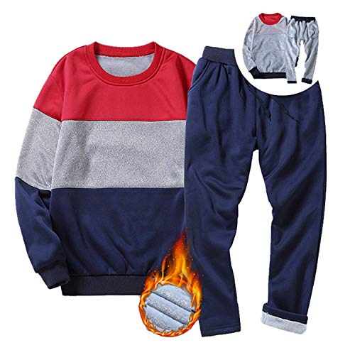 Amazon.com: Winter Tracksuits Men Set Cotton Inner Fur Thick Warm Track Suits Striped Two Piece Sets: Arts, Crafts & Sewing