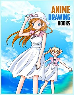 Anime Drawing Books: 8.5 x 11, 120 Unlined Blank Pages For Unguided Doodling, Drawing, Sketching & Writing