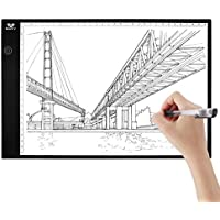 A4 Drawing Board Light Box, SAVFY Ultra-thin Portable USB Powered LED Artcraft Tracing Light Pad Copy Board for Artists,Drawing, Sketching, Animation