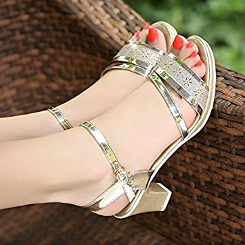 d0c8bd61fd8da3 LGK FA Summer Women S Sandals High Heels Women Summer Shoes Shoes Korean  Students Fish Mouth Sandals 39